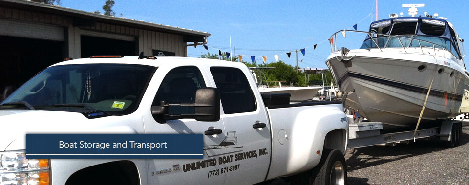We provide secure storage and boat transport services.